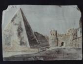 Graffito da foto Alinari del 1850
