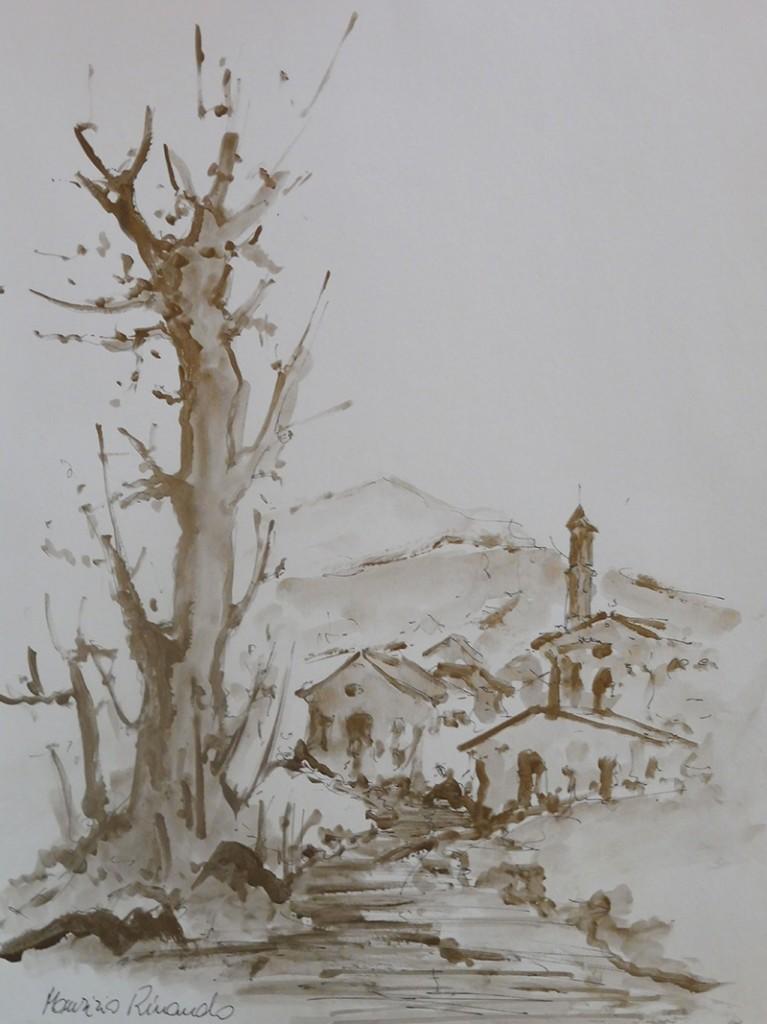 Maurizio Rinaudo 35x50_con chiesa_2
