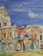Tramonto al Colosseo